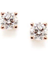 Nephora - 14k Rose Gold & 0.40 Total Ct. Diamond Stud Earrings - Lyst