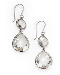 Ippolita - Clear Quartz & Sterling Silver Drop Earrings - Lyst
