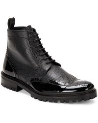 Bugatchi - Italian Leather Wingtip Boots - Lyst