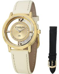 Stuhrling Original - Stuhrling Women's Vogue Genuine Leather Interchangeable Strap Watch - Lyst
