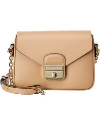 Longchamp Le Pliage Heritage Small Leather Shoulder Bag in Brown - Lyst 67f349c3b9823