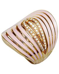 Roberto Coin - 18k Rose Gold 0.22 Ct. Tw. Diamond Ring - Lyst