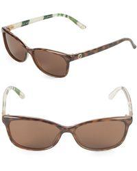 Gucci - 54mm Rectangle Sunglasses - Lyst