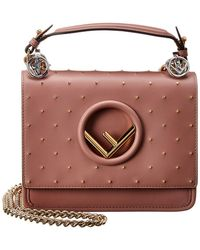 Fendi - Kan I F Small Leather Shoulder Bag - Lyst