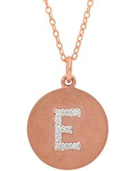 Nephora - 14k Rose Gold 0.10 Ct. Tw. Diamond Letter E Initial Necklace - Lyst