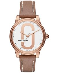 Marc Jacobs - Corie Rose Gold-tone & Leather Three-hand Watch, 36mm - Lyst