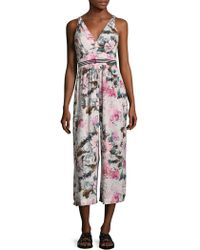 Plenty by Tracy Reese - Floral Print Gathered Jumpsuit - Lyst