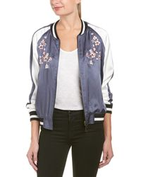 Ei8ht Dreams Ei8ht Dreams Embroidered Reversible Bomber Jacket - Blue
