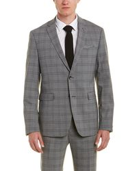 Original Penguin - Skinny Fit Wool-blend Suit With Flat Front Pant - Lyst