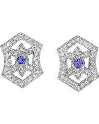 Effy - Fine Jewellery 14k 0.83 Ct. Tw. Diamond & Tanzanite Earrings - Lyst