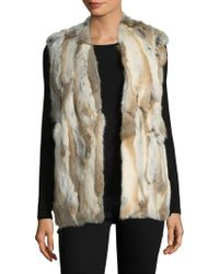 Love Token - Savanna Rabbit Fur Vest - Lyst