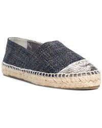 Chanel - Multicolor Metallic Leather & Tweed Espadrille, Size 41 - Lyst