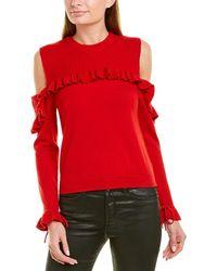 The Kooples Cold-shoulder Wool Jumper - Red