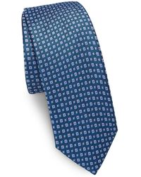 Saks Fifth Avenue - Two-tone Square Dot Silk Narrow Tie - Lyst