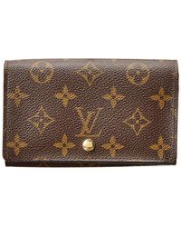 Louis Vuitton - Monogram Canvas Tresor Wallet - Lyst