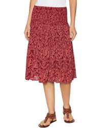 Zoe & Sam - Print Fit And Flare Skirt - Lyst