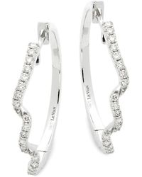Le Vian - 14k Vanilla Gold & Vanilla Diamonds Hoop Earrings - Lyst