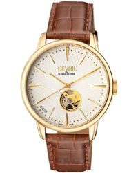 Gevril Watches - Mulberry Open Heart Stainless Steel Watch, 41mm - Lyst