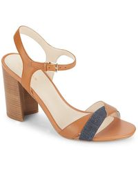 Cole Haan - Florena Leather Colorblock Sandals - Lyst