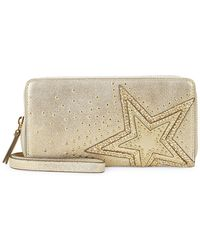 Vince Camuto - Studded Leather Continental Wallet - Lyst