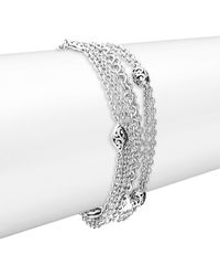 Lois Hill - Silver Small Multi Chain Bracelet - Lyst