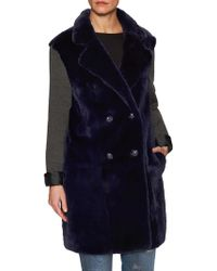 Tasha Tarno - Sheared Fur Coat With Knit Sleeves - Lyst
