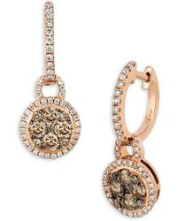 Le Vian - Chocolatier Diamond And 14k Strawberry Gold Drop Earrings - Lyst