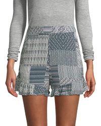 BCBGMAXAZRIA - Printed High-rise Shorts - Lyst