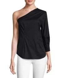 Tracy Reese - Cotton Asymmetrical Top - Lyst
