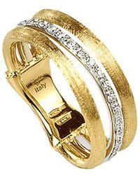 Marco Bicego - Jaipur Link 18k Two-tone 0.12 Ct. Tw. Diamond Ring - Lyst