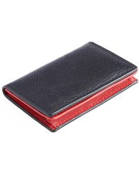 Royce - Credit Card Case In Pebbled Leather - Lyst