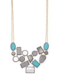 Freida Rothman - Crystal & Gemstone Geometric Bib Necklace - Lyst