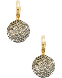 Rebecca Minkoff - High Shine Pompom Huggie Earrings - Lyst
