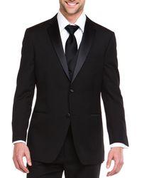 Ike Behar - Ike Evening By Black 2 Button Notch Lapel Classic Fit Tuxedo - Lyst