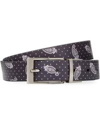 Fred Perry - Drakes Printed Leather Belt - Lyst