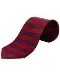 Brooks Brothers - Burgundy Horizontal Stripe Silk Tie - Lyst
