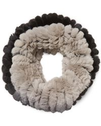 Jocelyn - Rabbit Fur Elastic Infinity Scarf - Lyst