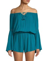 L*Space - L' Spirit Off-the-shoulder Romper - Lyst