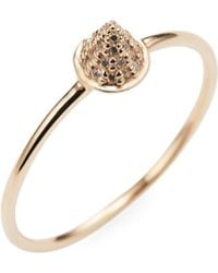 Sydney Evan - Pave Cone Spike Ring - Lyst
