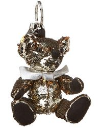 Burberry - Thomas Bear Sequins & Leather Charm - Lyst