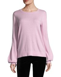 BCBGMAXAZRIA - Cotton Puff Sweater - Lyst