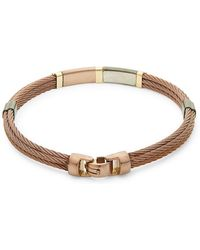 Alor - 18k Yellow Gold Detail Cable Bracelet - Lyst