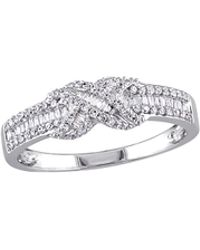 Rina Limor - 14k White Gold & 0.30 Total Ct. Multi-cut Diamond Band Ring - Lyst