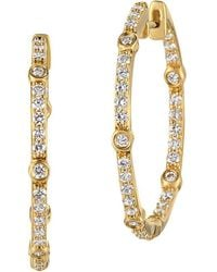 Le Vian - Vanilla Diamond And 14k Honey Gold Earrings - Lyst