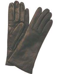Portolano - Grey Leather Gloves - Lyst