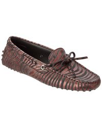Tod's Gommino Metallic Leather Driving Shoe