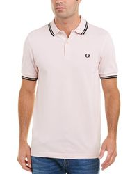 Fred Perry - M3600 Faded Pink Pique Polo Shirt - Lyst