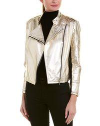 Yigal Azrouël - Metallic Leather Jacket - Lyst