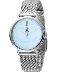Just Cavalli - Stainless Steel Icy Blue Dial Watch, 34mm - Lyst