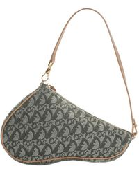 b70d7abbd547 Dior - Green Trotter Denim Diorissimo Saddle Bag - Lyst · Dior - Navy  Trotter Canvas ...